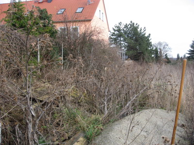 Grundstück vor Neugestaltung