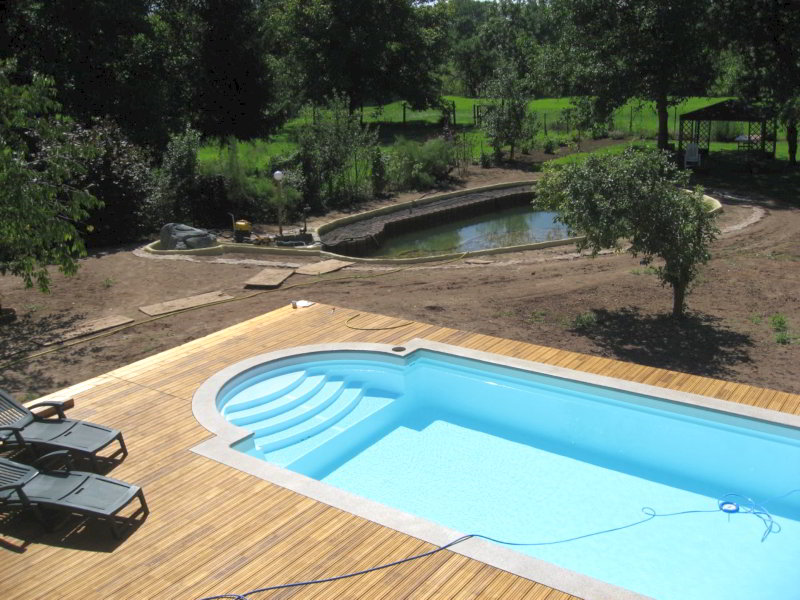 Aussenanlage Pool Gartenteich